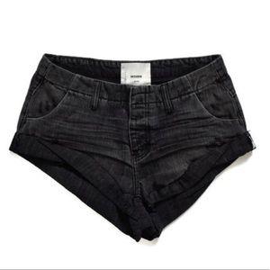 ONE TEASPOON Volcanic Sailors Denim Black Shorts